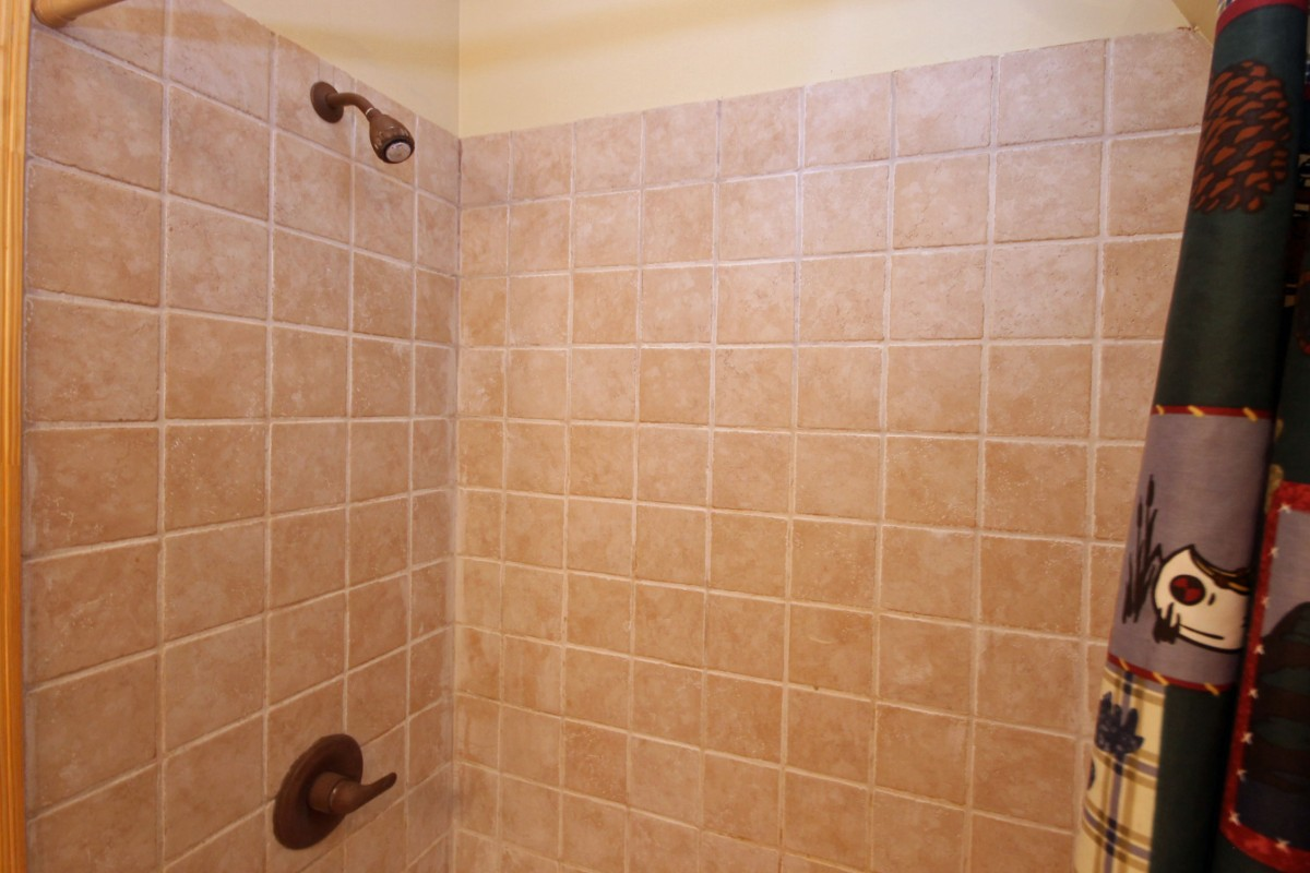 We love the tiled shower!
