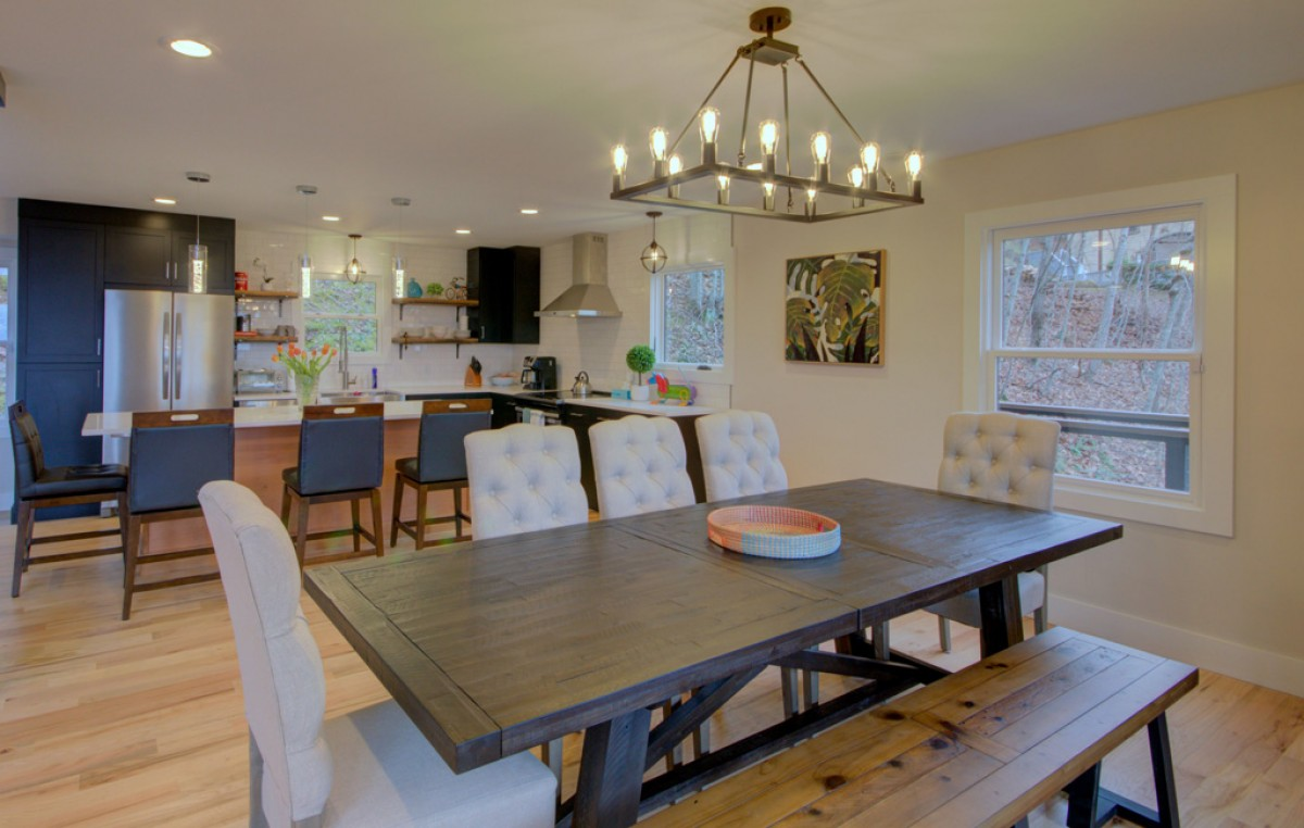 Dining area is open to the kitchen