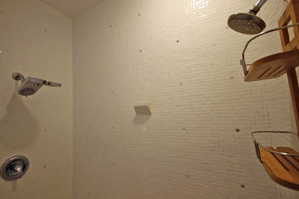 There is a dual shower in the master bathroom, with plenty of space!