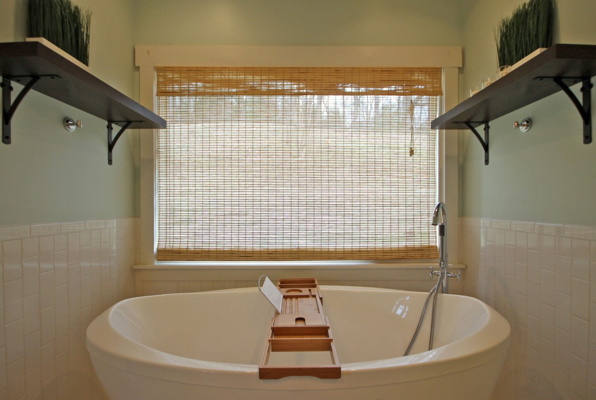 Relax in this oversized tub in the master bathroom.
