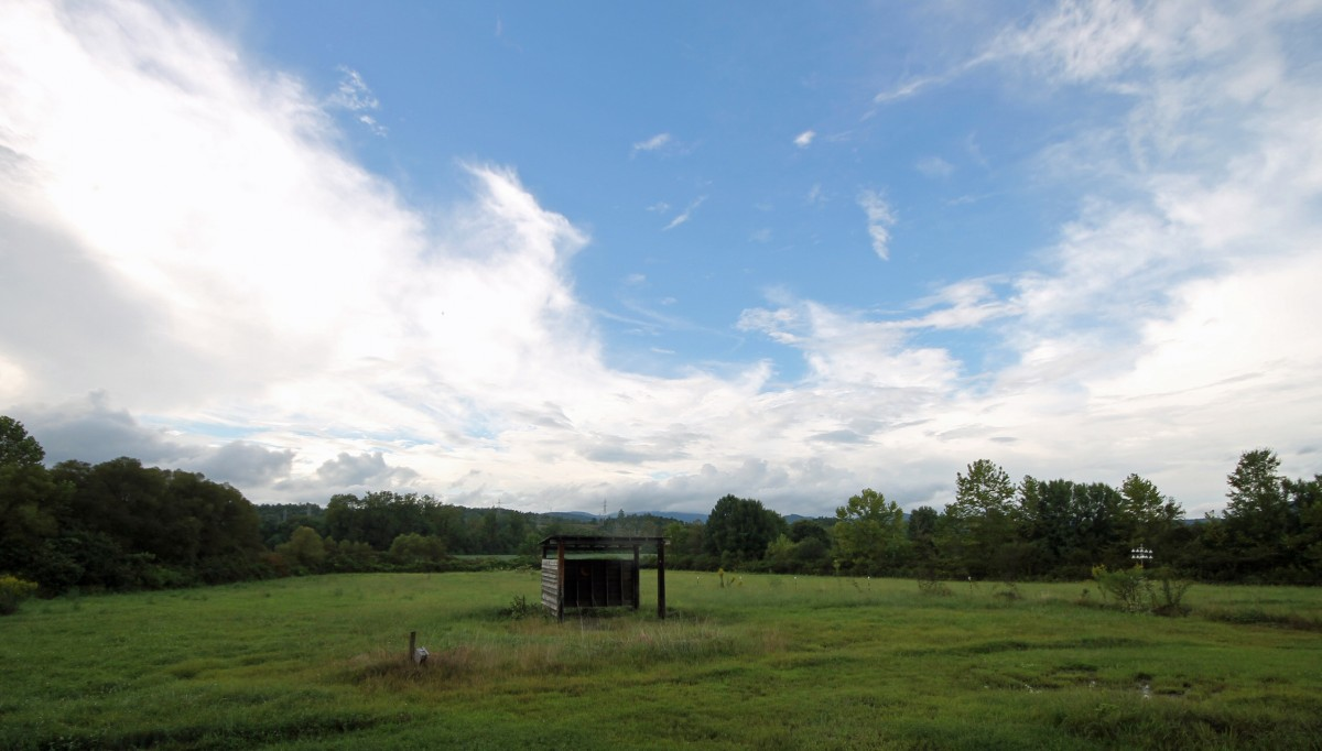 We love the valley view, the pasture and the dramatic sky.
