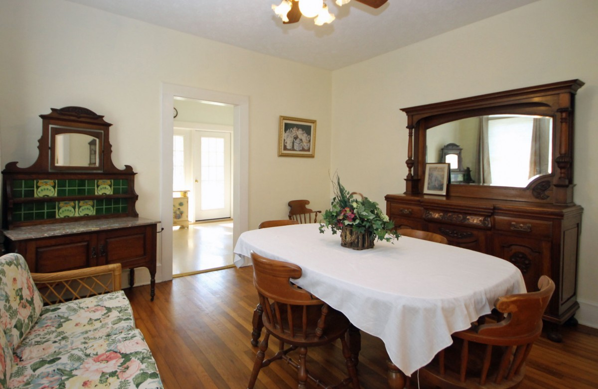 We love all the old furniture in this home, and the pieces in the dining room are our favorites.