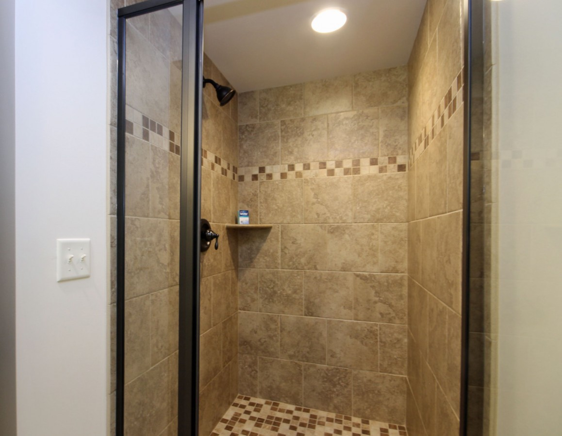 The tiled shower in the master bath is a real pleasure to use.