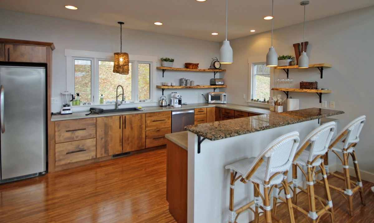 The beautiful open kitchen is perfect for entertaining.